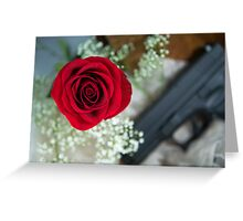 Touch The Rose Greeting Card