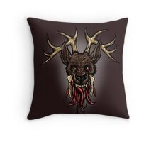 I think I broke the deer Throw Pillow