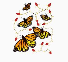 Butterflies and Roses  Womens Fitted T-Shirt