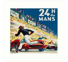 Vintage - 24 Hours of Le Mans (24 H du Mons) Art Print