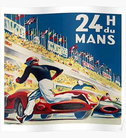 Vintage - 24 Hours of Le Mans (24 H du Mons) Poster