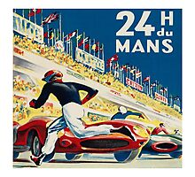 Vintage - 24 Hours of Le Mans (24 H du Mons) Photographic Print