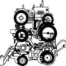 Field tractor wheels by SofiaYoushi