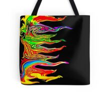 Color your life! Rainbow, Music, Trance, Techno, Rave, Goa, Holi Festival Tote Bag
