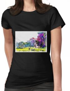 Paestum: archaeological site with restaurant Womens Fitted T-Shirt