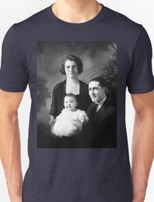 ADELBERT AND CELESTA ALBEE WITH BABY DOROTHY MAE Unisex T-Shirt