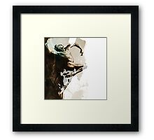 "Shadowtwister ""Dance"" conté drawing - textured v.3 Framed Print"