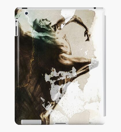 """Shadowtwister """"Dance"""" conté drawing - textured v.3 iPad Case/Skin"""