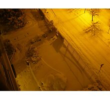 Shadows in the snowy night Photographic Print