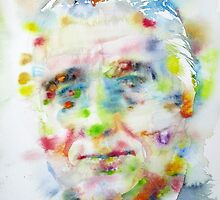 FRANKLIN D. ROOSEVELT - watercolor portrait by lautir