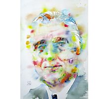 FRANKLIN D. ROOSEVELT - watercolor portrait Photographic Print