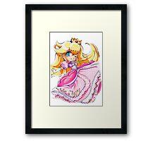 Chibi Princess Peach Framed Print