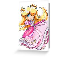 Chibi Princess Peach Greeting Card