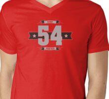 B-day 54 (Light&Darkgrey) Mens V-Neck T-Shirt