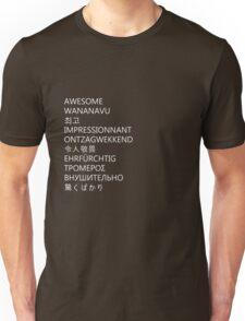 awesome languages (white) Unisex T-Shirt