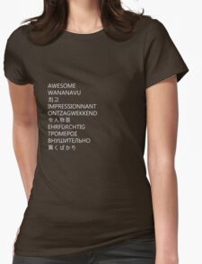 awesome languages (white) Womens Fitted T-Shirt
