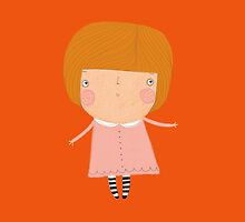 pink dress & stripey tights by stamptout