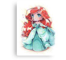 Chibi Princess Ariel Canvas Print