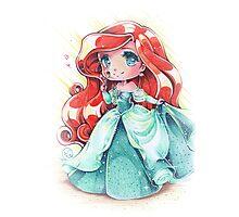 Chibi Princess Ariel Photographic Print