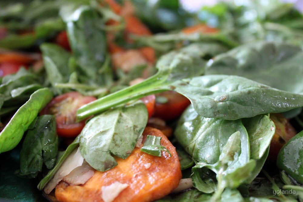 Baby Spinach and Sweetpotato Salad by yolanda