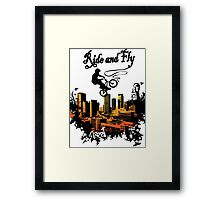 ride and fly design t-shirt Framed Print