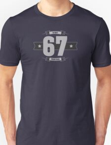 B-day 67 (Light&Darkgrey) Unisex T-Shirt