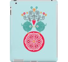curly whirly lovebirds with heart flowers iPad Case/Skin