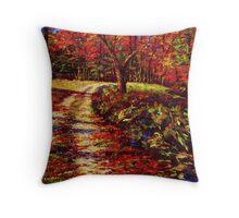 The Autumn Road Throw Pillow