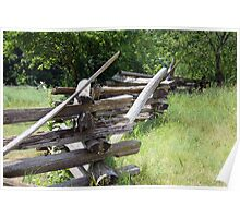 Split-rail Fence Poster