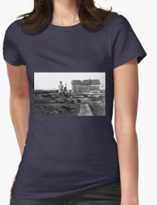 GRANDMA ALBEE (CELESTA) AND HER PAPA ON THE FARM Womens Fitted T-Shirt