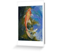 Butterfly Koi Painting Greeting Card