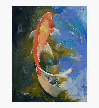 Butterfly Koi Painting Photographic Print