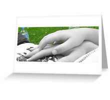 Hold my hand... Greeting Card