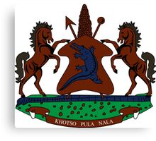 Coat of Arms of Lesotho Canvas Print