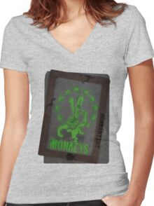 12 Monkeys Dark Women's Fitted V-Neck T-Shirt