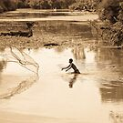 Angkor Wat fisherman by Cellisimo