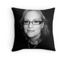 Sanna in black Throw Pillow