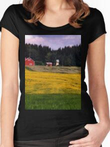a historic Finland landscape Women's Fitted Scoop T-Shirt