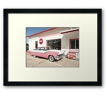 Ford Fairlane 1955 'The Crown Victoria'. Framed Print
