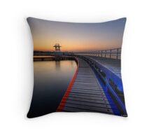 Eastern Beach Promonade Throw Pillow