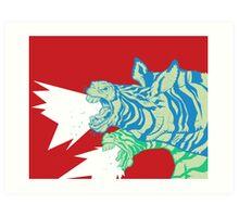 Zebras:  Let it be Herd Art Print