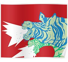 Zebras:  Let it be Herd Poster