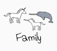Family - Unicorn, Narwhal, Narwhalicorn One Piece - Short Sleeve