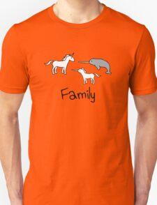 Family - Unicorn, Narwhal, Narwhalicorn Unisex T-Shirt