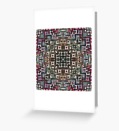 Colorful Geometric Abstract Greeting Card