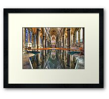 Salisbury Cathedral Interior Reflections Framed Print