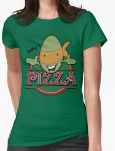 Mickey's Pizza Womens Fitted T-Shirt
