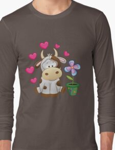 Little cow in love Long Sleeve T-Shirt