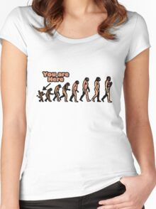 Evolution humor Women's Fitted Scoop T-Shirt