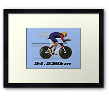Wiggo Record Breaker Framed Print